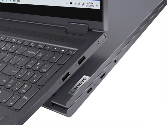 썬더볼트 4와 USB3.0 포트, 오디오 잭 등의 다양한 포트를 지원한다.