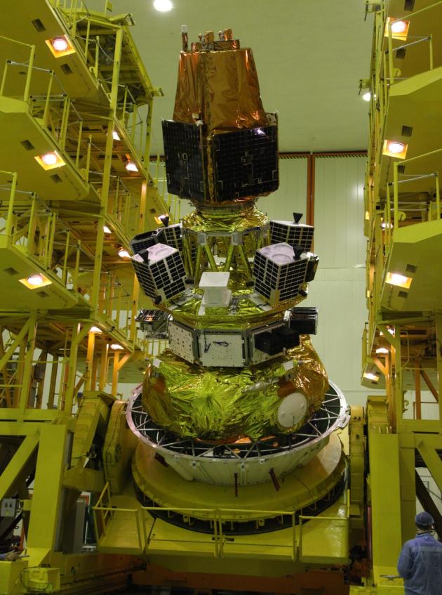 발사체에 장착된 차세대중형위성 1호(사진=과기정통부)
