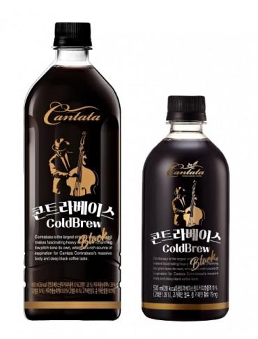 롯데칠성음료 '칸타타 콘트라베이스 콜드브루 블랙' 900mL, 500mL 제품