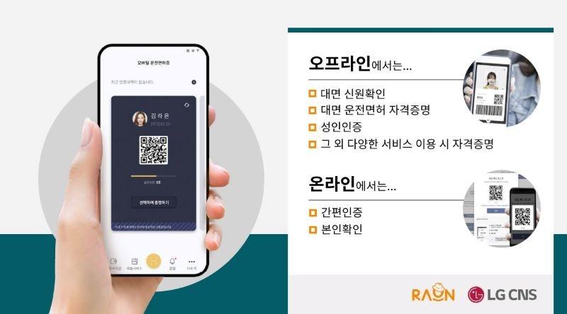 라온시큐어와 LG CNS가 국가 최초 블록체인 기반 디지털 신분증 '모바일 운전면허증'을 공동 구축한다.