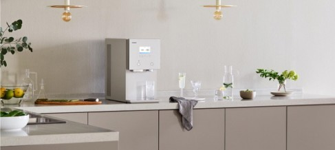 Imagen del nuevo purificador de agua de Coway, Ice 3.0 IO Care.  Proporcionado = Coway