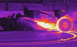 F1 머신, 열감지 카메라로 보면…