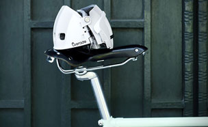 1/3 크기로 줄어드는 '자전거 접이식 헬멧'