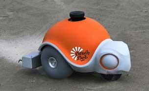 그림 그리는 로봇, 타이어 흔적이 없다?
