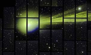 암흑에너지 카메라에 담긴 혜성의 놀라운 순간