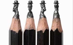 뾰족한 연필심 끝의 놀라운 미학