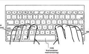 애플, '키보드+터치형' 하이브리드 키보드 특허 출원