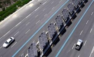 中 자랑 '태양광 고속도로', 5일 만에 폐쇄 왜?