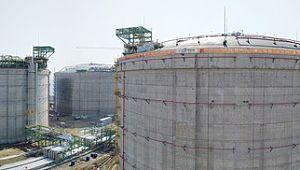 세계 최대 용량, 삼척 LNG 기지 가동