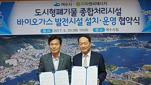 지엔씨에너지, 여수 바이오가스 열병합사업 협약
