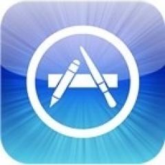 애플의 앱스토어 로고.