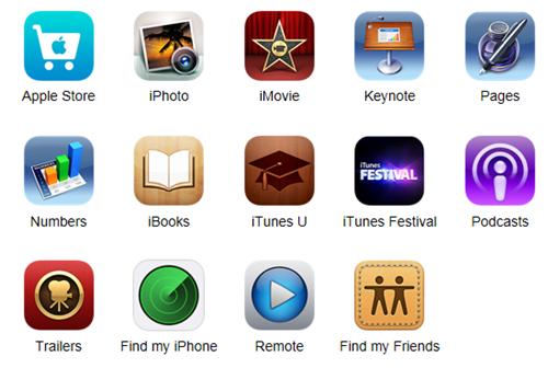 <center>▲ Apple의 무료 앱들</center>