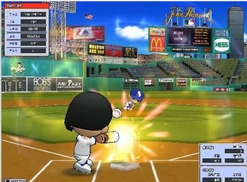 우리나라 애니파크가 만든 온라인 야구 게임인 '마구마구'. 온라인 야구 게임의 성공신화를 쓴 첫 번째 작품이다.