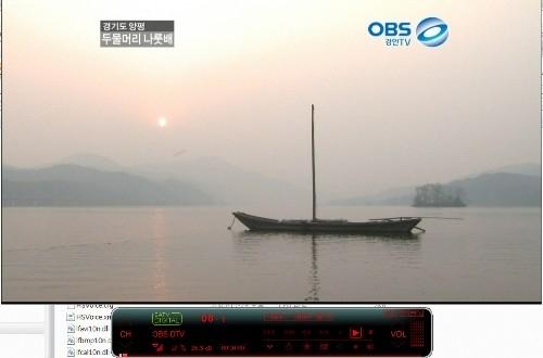 방송 신호가 잡히면 선명한 HD 방송을 볼 수 있다.