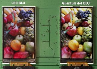 LED BLU 및 퀀텀닷 BLU를 적용한 LCD모듈 비교.