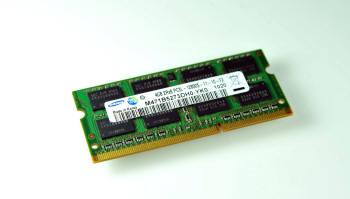삼성전자가 이달 양산에 들어간 30나노급 2Gb DDR3 D램으로 만든  노트북용(SoDIMM) 메모리 제품.