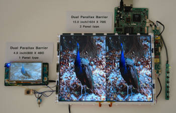 파버나인코리아가 개발한 무안경방식 3D.