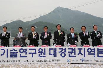 지난 5월 25일 대구테크노폴리스 연구단지에서 열렸던 한국생산기술연구원 대경권지역본부 기공식 장면.