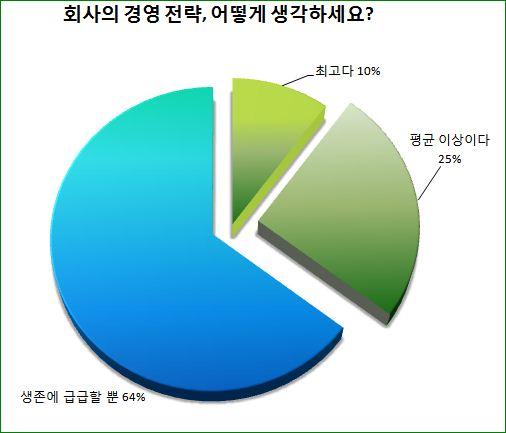 """""""우리 회사 경영전략, 생존에 급급한 수준""""...48% """"경영진이 책임지고 짜야"""""""