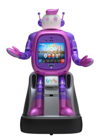 내년 부천시청에 설치될 시 청사 안내 로봇 모형.