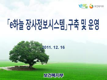 [2011 공공정보화 대상]보건복지부 `e하늘 장사(葬事)종합정보시스템`