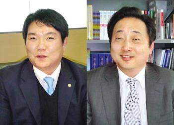 이명근 아이리얼 대표(왼쪽)와 김철민 진인 대표