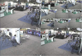 미국에서 열린 국제방송장비전시회에서 랜티스 DVR에 찍혀 저장된 범죄 현장.