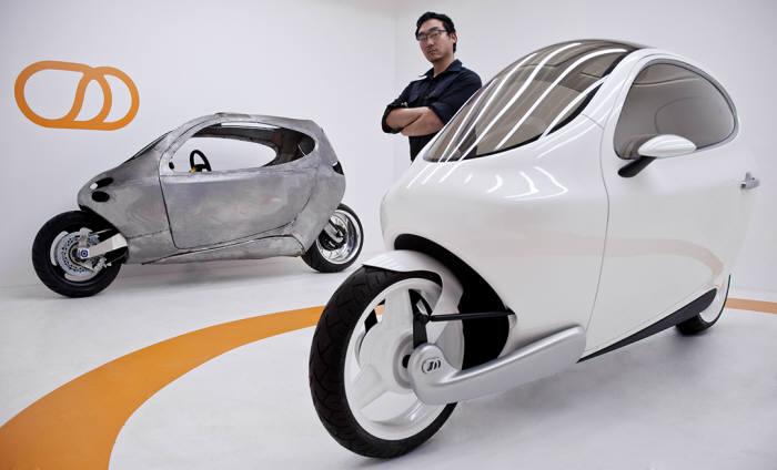 릿모터스가 개발한 이륜 전기자동차 `C-1`