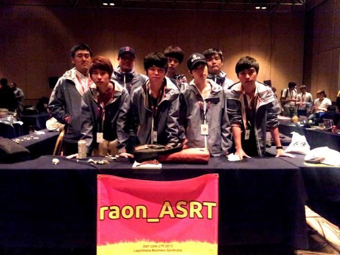 지난해 데프콘 CTF 3위를 차지하고 올해 다시 본선에 진출한 라온시큐어 보안기술연구팀 `Raon _ASRT`