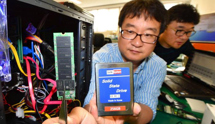 썬시스템, 256GB 용량의 초소형 차세대 SSD 독자 개발 - 전자신문