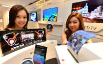 LG디스플레이, 플렉시블 OLED등 다양한 제품 선봬