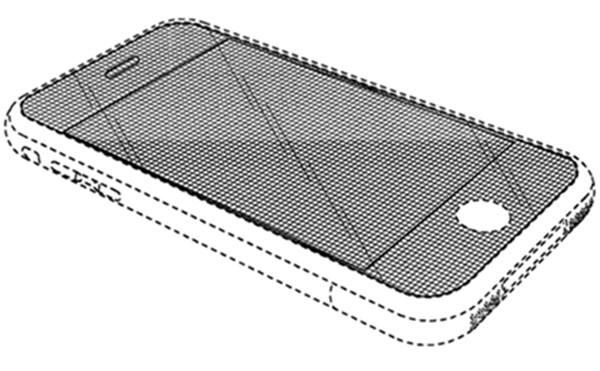 미특허청이 지난 5일 무효화시킨 아이폰 둥근모서리 관련 디자인특허(D618,677).사진=미특허청