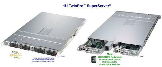 슈퍼솔루션이 출시한 슈퍼마이크로 1U 트윈프로 서버 1028ITP 시리즈.