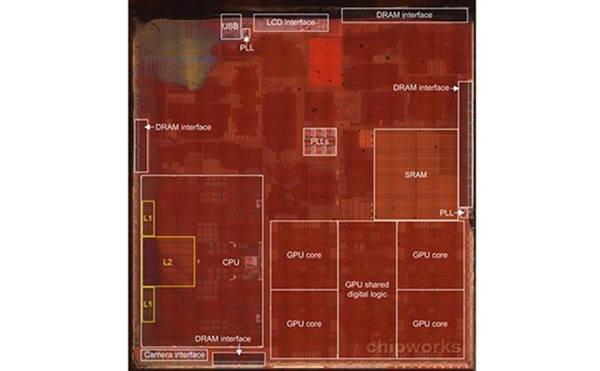 애플이 미법원으로부터 A7칩이 미 위스콘신대 특허를 침해했다는 판결을 받았다. 위스콘신대는 무려 9913억원을 배상액으로 요구했다. <칩웍스 자료>