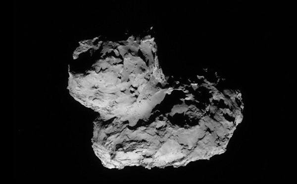 오리모양으로 생긴 67P 혜성. 사진=ESA