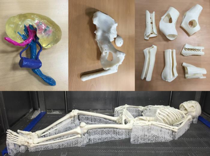 경북대 3D융합기술지원센터가 K-ICT 3D프린팅 콘퍼런스에 선보일 전시물.