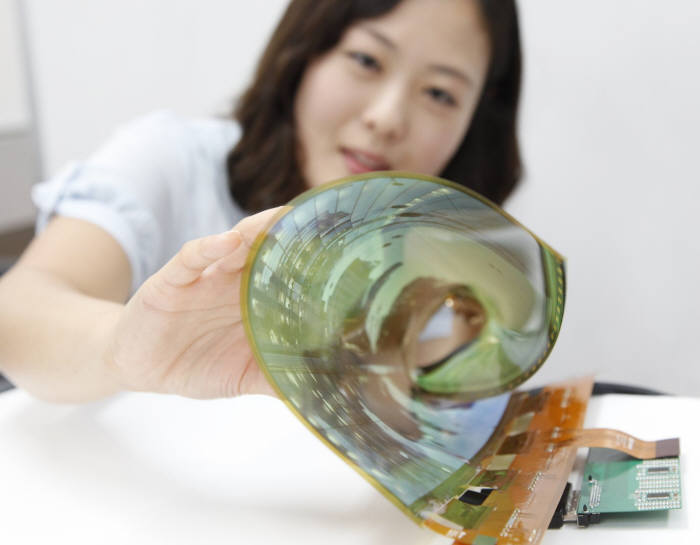 LG디스플레이 플렉시블 OLED.