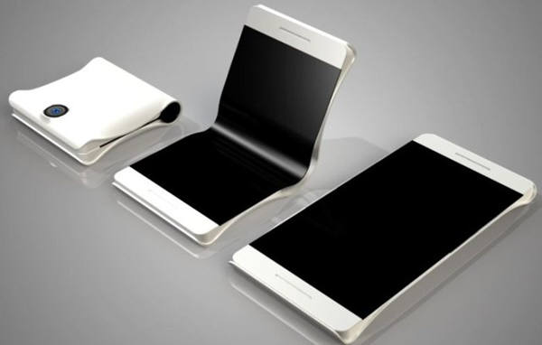 접는 방식의 스마트폰 컨셉.펼치면 태블릿이 된다.실물과는 무관하다.