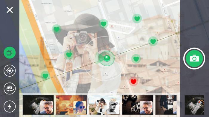 KAIST와 리코시스가 공동 개발한 실시간 사진공유 기술은 사진 촬영 장소를 구글맵 상에 표시해 여행 경로도 파악할 수 있다.