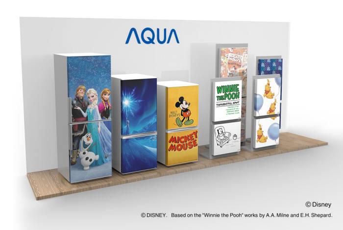 하이얼 아시아가 AQUA 냉장고 제품군에서 첫 선을 보인 커버 교체형 냉장고 <전자신문DB>