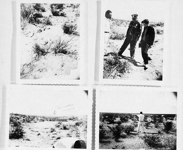 UFO가 발견된 장소를 촬영한 사진. 사진=CIA,미정부아카이브