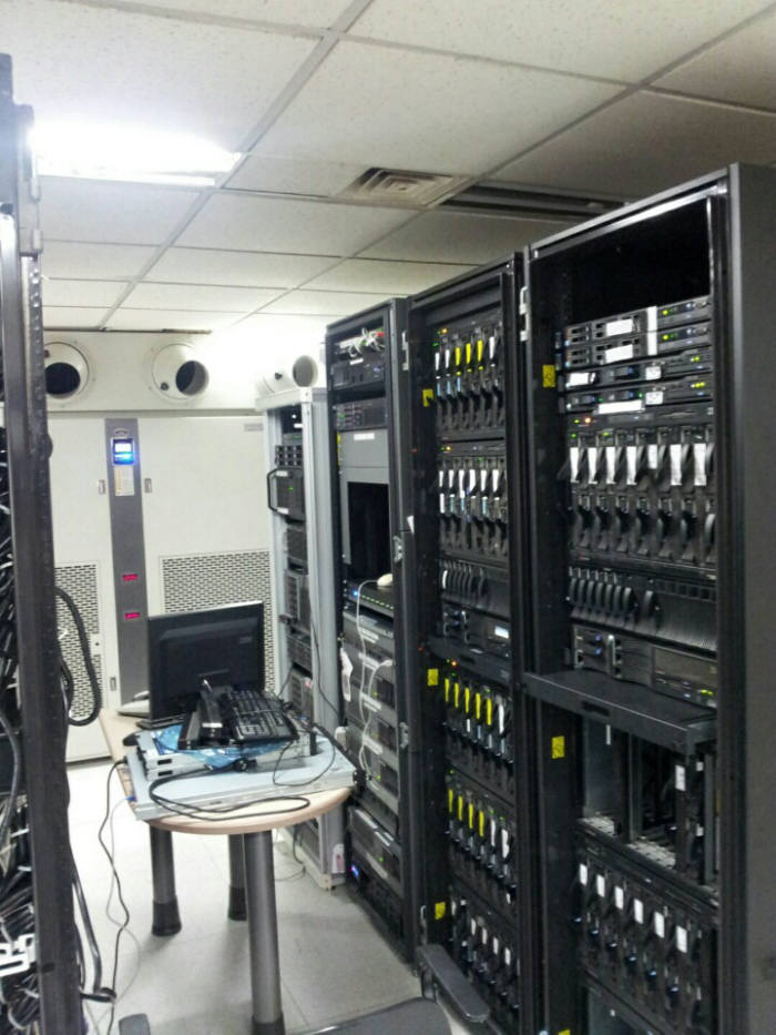 세중아이에스가 운영중인 클라우드 기반 포항스마트워크센터 내부 사진.