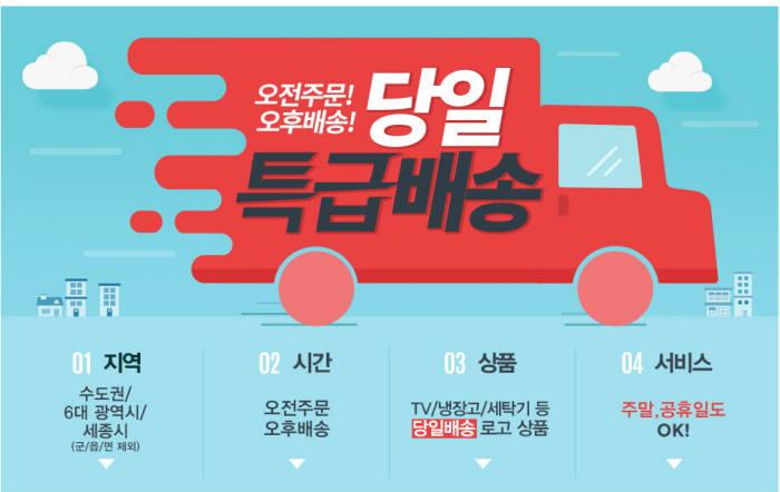 가전유통도 당일배송시대…롯데하이마트 `번개 배송` 시작
