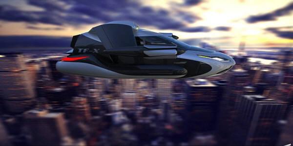 테라푸가가 업그레이드해 만드는 하늘을 나는 4인승 차는 최근 위스콘신주 오시쿠시에서 실험비행기협회 주최로 열린 비행대회에서 소개됐다. 일러스트=테라푸가