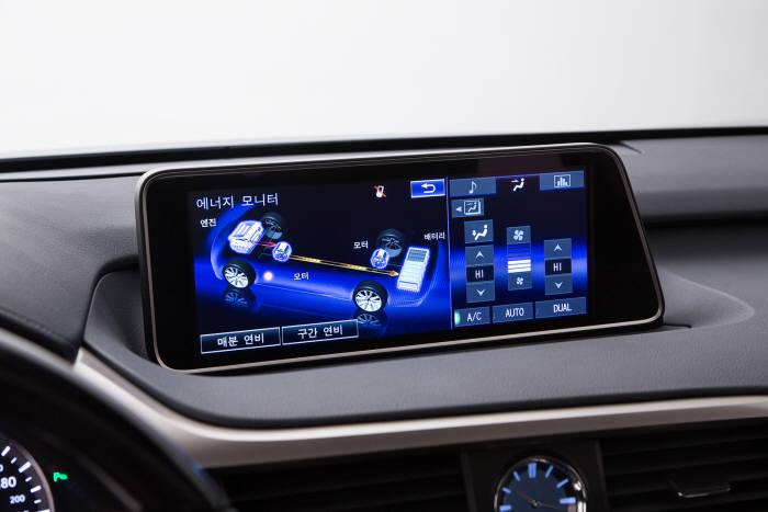 렉서스 하이브리드 중형 SUV `RX450h` 12.3인치 풀 컬러 디스플레이