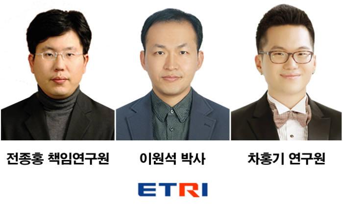 ETRI 서비스표준연구실 전종홍 책임연구원, 이원석 박사, 차홍기 연구원.