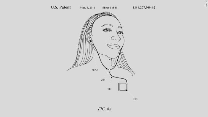 미국 특허청에 등록된 애플 새 이어팟 특허 개념도