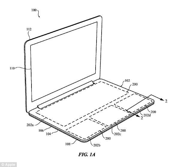 애플이 특허 출원한 터치패널 타입 키보드(출처:미국특허청)