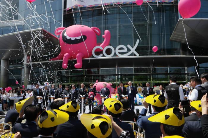 작년 C-페스티벌 개막식 모습.