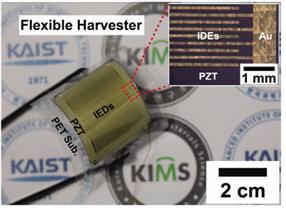 재료연구소와 KAIST가 공동개발한 유연소자.